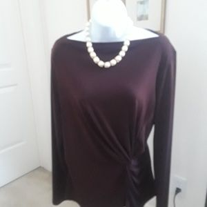Beautiful burgundy work or Night Out shirt